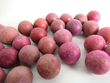 UpperDutch:Marbles,Pink Clay Marbles, Set of 30 Antique Clay Marbles, Antique pink marbles.