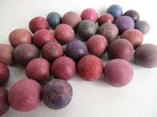 UpperDutch:Marbles,Marbles, Set of 30 old clay marbles.
