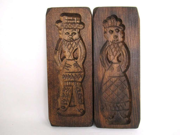 UpperDutch:Cookie Mold,Set of 2 Springerle molds, Vintage Wooden cookie molds.