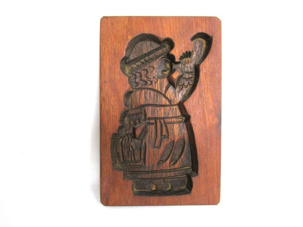 UpperDutch:Cookie Mold,Springerle mold, Vintage Wooden cookie mold.