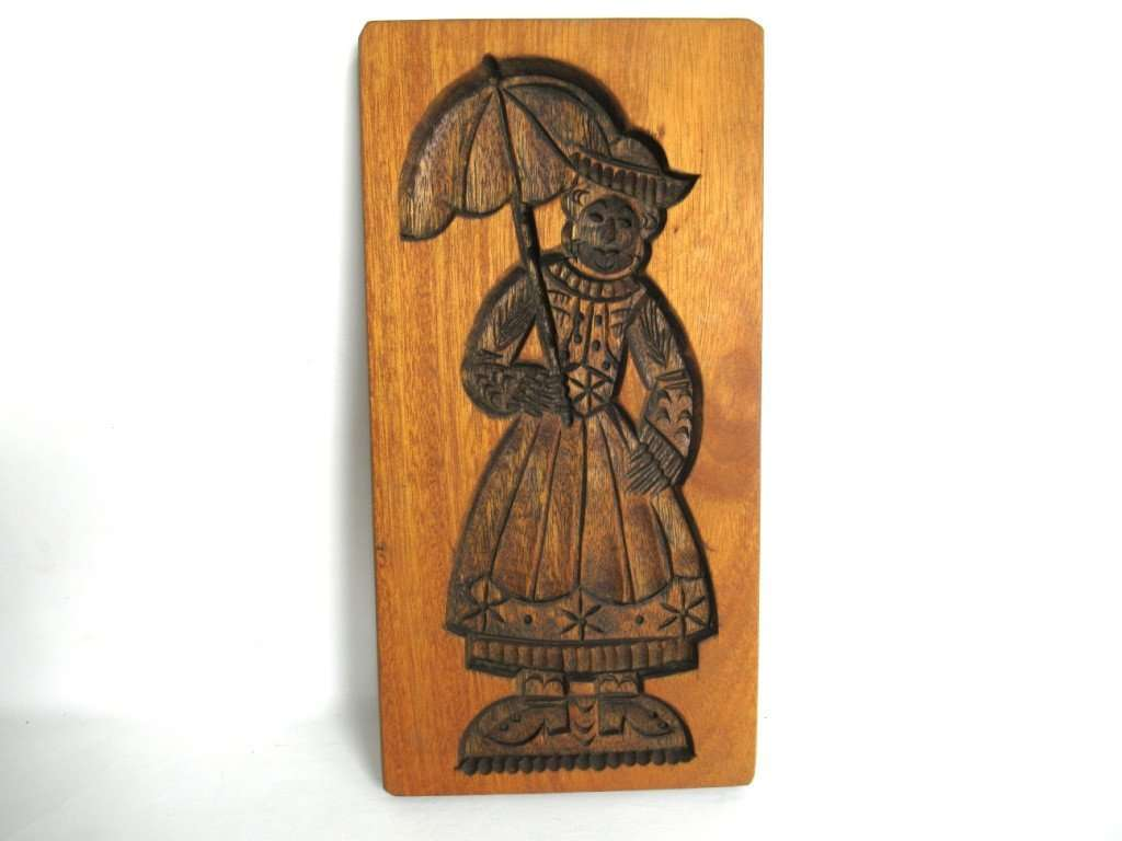 UpperDutch:Cookie Mold,Springerle Cookie Mold, Folk art wooden cookie mold.