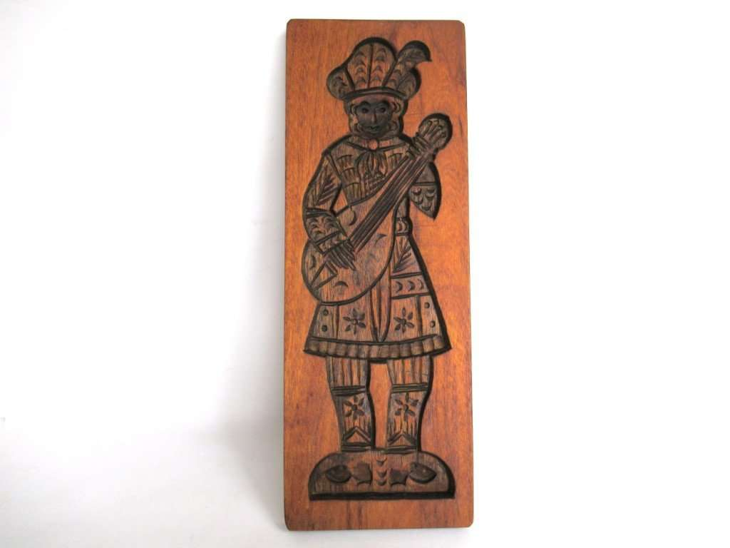 UpperDutch:Cookie Mold,Springerle, Wooden cookie mold. Wooden Folk Art Cookie Mold. speculaas plank.