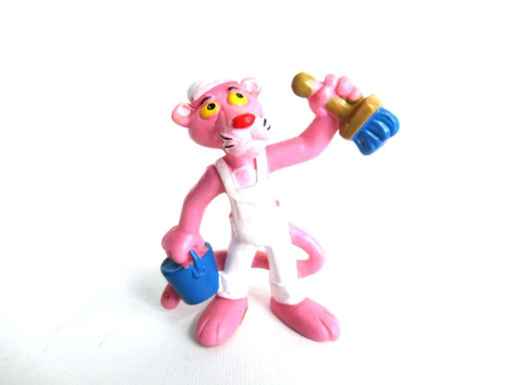 UpperDutch:Figurines,Pink Panther Painter Pvc Figurine Bully 1983 United Artists West Germany