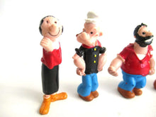 UpperDutch:Figurines,Popeye the sailor man. Set of 5 vintage pvc figurine's Popeye Olive Brutus Wimpy and Dufus