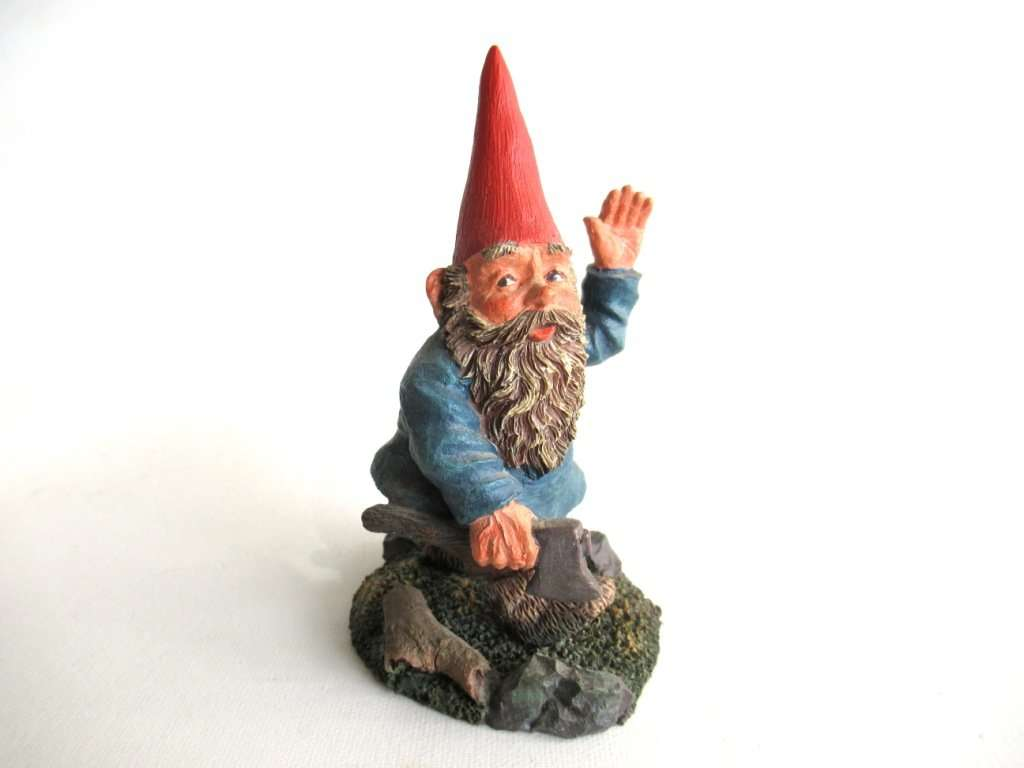 UpperDutch:Gnomes,Classic Gnomes 'Peter' Gnome figurine after a design by Rien Poortvliet, Gnome with Axe