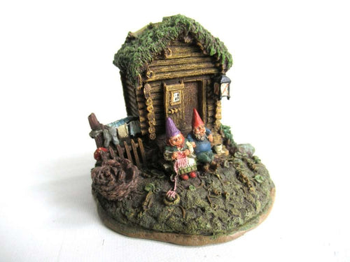UpperDutch:Gnomes,Gnome figurine after a design by Rien Poortvliet Classic Gnomes Villages 'Gnome Sweet Home'.