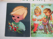 UpperDutch:Postcards,Retro Postcards Seventies, Set of 11 Used Vintage Cards 1970s.
