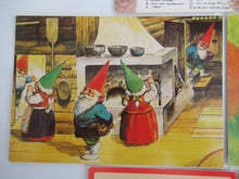 UpperDutch:Gnomes,Set of 5 Postcards / Cards Rien Poortvliet, David the Gnome.