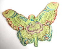 UpperDutch:Sewing Supplies,Antique Fairy Applique, butterfly applique, 1930s embroidered applique. Vintage sewing supply, crazy quilt, antique.