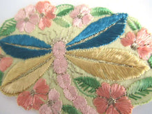 UpperDutch:Sewing Supplies,Dragonfly Applique 1930s vintage embroidered dragonfly applique. Vintage patch, sewing supply. Applique, Crazy quilt.