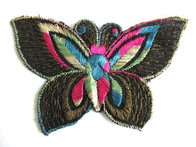 UpperDutch:Sewing Supplies,Applique, 1930s vintage embroidered butterfly applique. Sewing supply. Applique, Crazy quilt