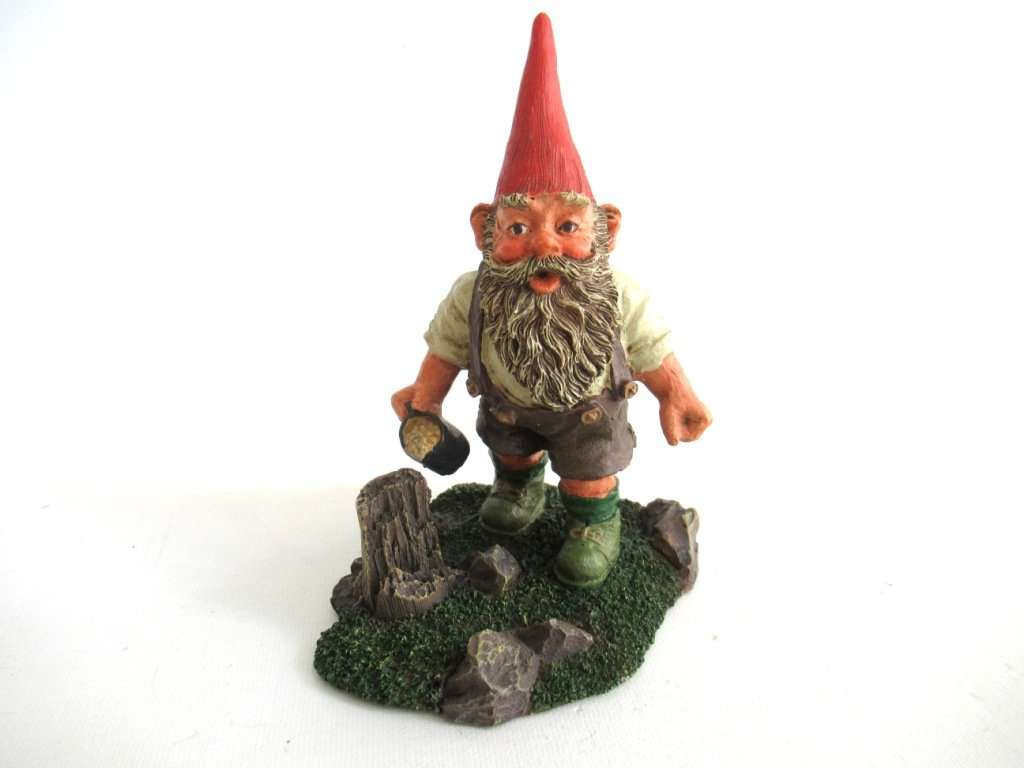 UpperDutch:Gnomes,Gnome figurine 'Hansli' Classic Gnomes, after a design by Rien Poortvliet.