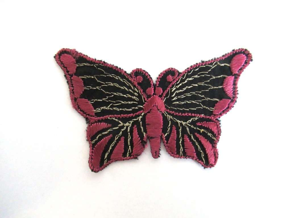 UpperDutch:Sewing Supplies,Butterfly applique, 1930s vintage embroidered applique. Sewing supply. Applique, Crazy quilt.