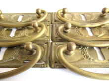 UpperDutch:Hooks and Hardware,1 (ONE) Restoration Hardware. Authentic Brass Antique Keyhole cover, Drawer Handle, Old Keyhole Plate, Escutcheon, Drop pull.