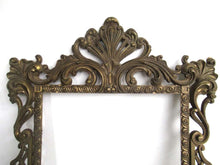 UpperDutch:Home and Decor,Vintage Brass plated Victorian Style Frame. Made in Italy.