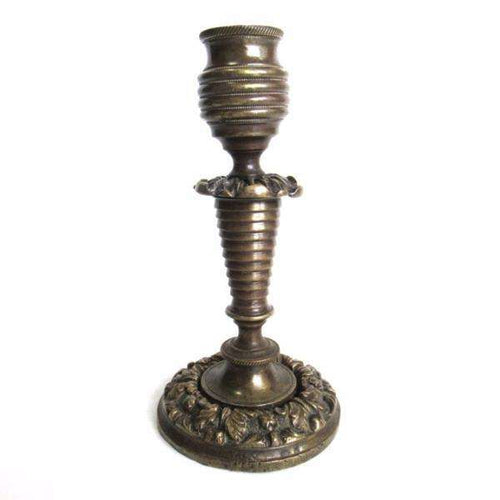 UpperDutch:Candelabras,Antique Candlestick, Solid brass victorian style candle holder.