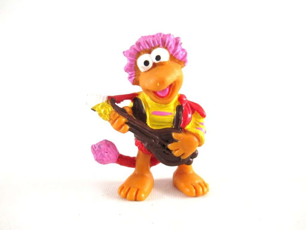 UpperDutch:,Gobo Fraggle, Schleich West-Germany, Pvc figurine, Fraggle Rock.