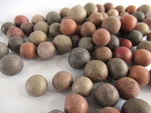 UpperDutch:,Set of 75 Antique Clay Marbles, old marbles.