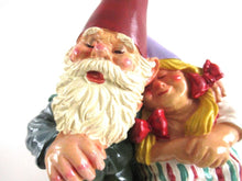 UpperDutch:Gnome,Gnome Couple on a Couch, Love, Gnome statue, Garden  gnomes.