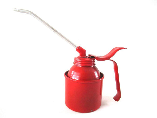 Vintage Red Oil Can, Pump, made in West-Germany