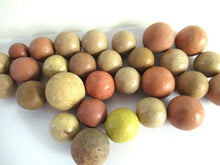UpperDutch:,Set of 30 Antique Clay Marbles, Antique marbles.