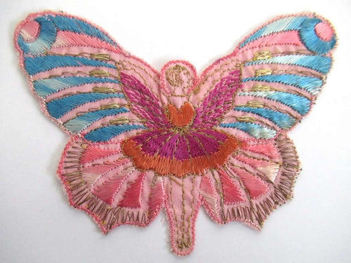UpperDutch:Sewing Supplies,Fairy applique, 1930s embroidered applique. Vintage sewing supply, crazy quilt.
