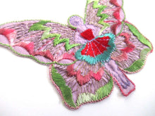UpperDutch:,Butterfly Fairy applique, 1930s embroidered applique. Vintage sewing supply, crazy quilt.