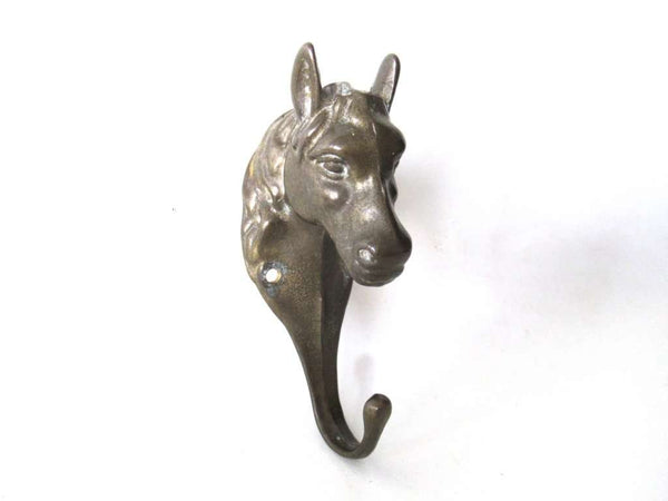 UpperDutch:,Horse Head Coat Hook, Horse, Solid Brass Horse Head Wall hook, Coat hook, Hanger, equestrian.