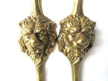 UpperDutch:,Set of 2 pcs Lion hooks Solid Brass Lion Head Wall hook - Coat hooks. Decorative animal storage solution, coat hangers.