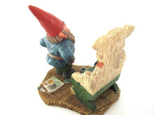 UpperDutch:Gnome,'Evert' Painting Gnome figurine. Classic gnomes series by AAAAAAA International Co. Ltd. Designed by Rien Poortvliet.