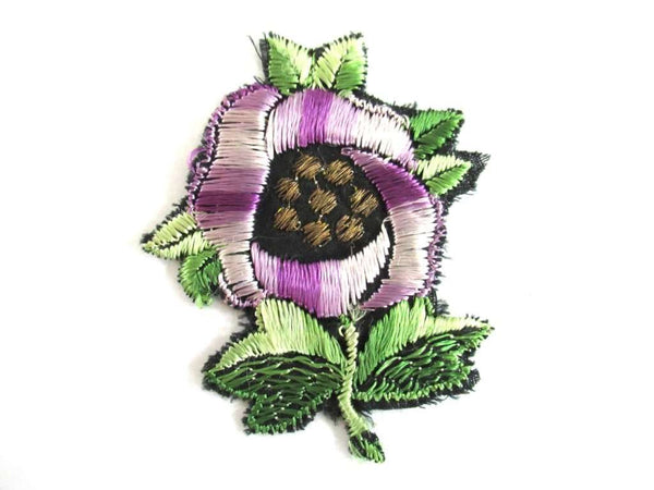 UpperDutch:Sewing Supplies,Silk Flower applique 1930s Vintage floral patch, sewing supply