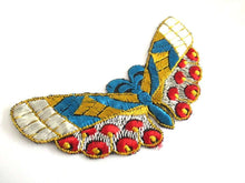 UpperDutch:,Butterfly applique 1930s Embroidery Vintage Patch Sewing Supply Crazy quilt.