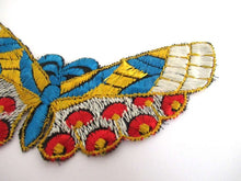UpperDutch:Sewing Supplies,Butterfly applique 1930s Embroidery Vintage Patch Sewing Supply Crazy quilt.