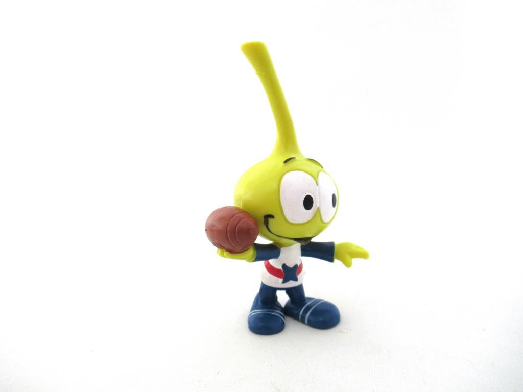 UpperDutch:Figurine,Snork Allstar Football, Schleich West-Germany The Snorks, Pvc figurine 1980's.