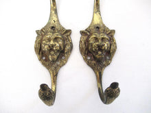 UpperDutch:Wall hook,Set of 2 Lion Wall hooks - Coat hooks. Decorative animal storage solution, coat hangers.