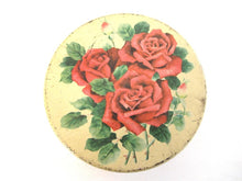 UpperDutch:Tin,Vintage Floral Tin, Red Roses, Flowers.