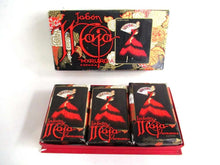 UpperDutch:,Maja Myrurgia giftbox with 3 Soap bars Collectible Vintage Soap Maja