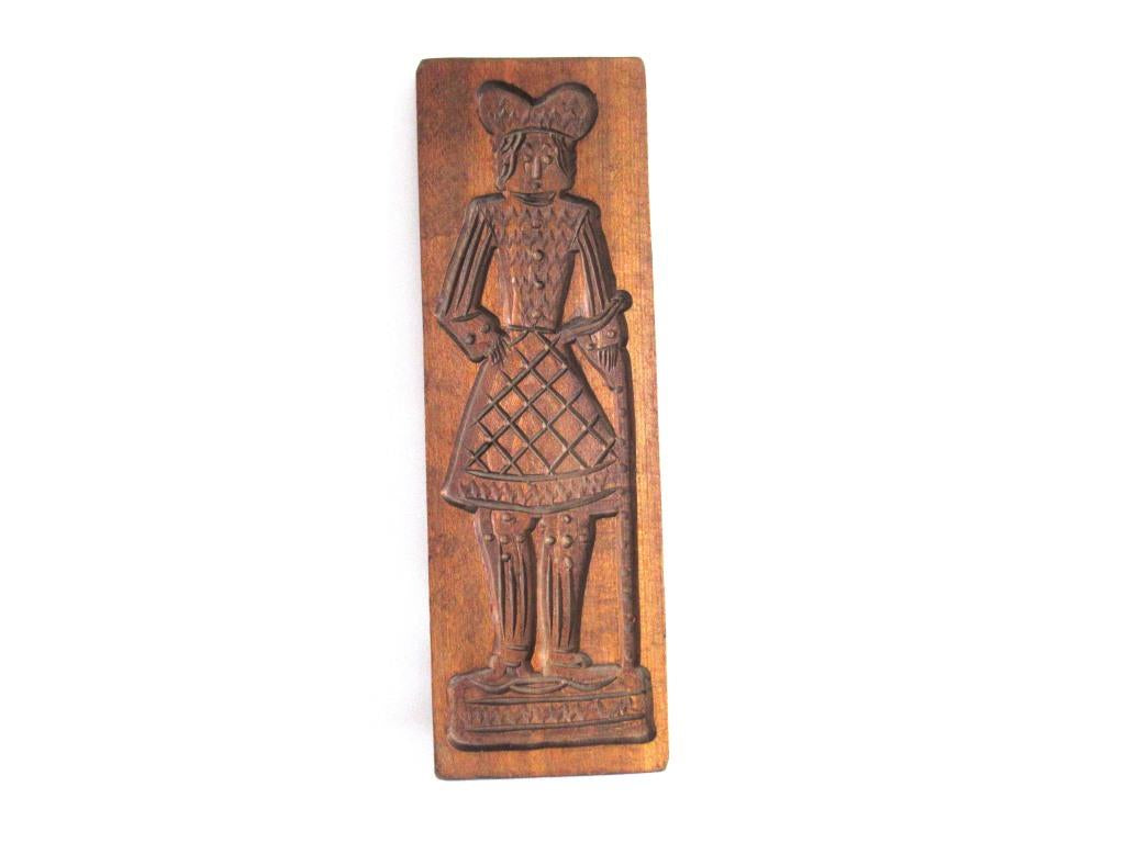 Springerle Mold, Vintage Folk art wooden cookie mold.