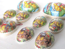 UpperDutch:Candy container,Easter Eggs - Set of 5 German Easter Paper Mache Eggs - Vintage Candy Containers
