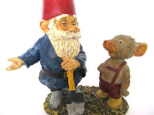 10 INCH Rien Poortvliet Gnome figurine, Gnome after a design by Rien Poortvliet, David the gnome, Al with Mouse, Klaus Wickl.
