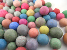 Marbles, Set of 100 Antique Clay Marbles, Antique marbles.