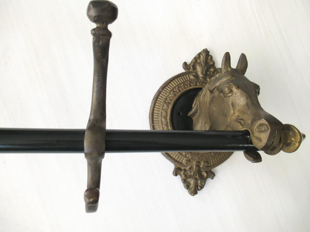 Horse Head Coat Rack with 5 hooks, Equestrian, Horse Stable Decor.