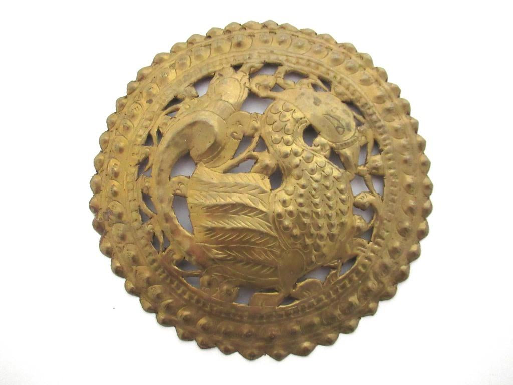 Thin Brass Stamped, pressed Ornament. Furniture applique, Embellishment.