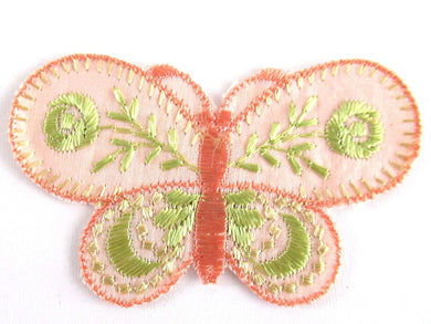 UpperDutch:Applique,Authentic Antique 1930's Butterfly Applique. Vintage patch, sewing supply. Crazy quilt.