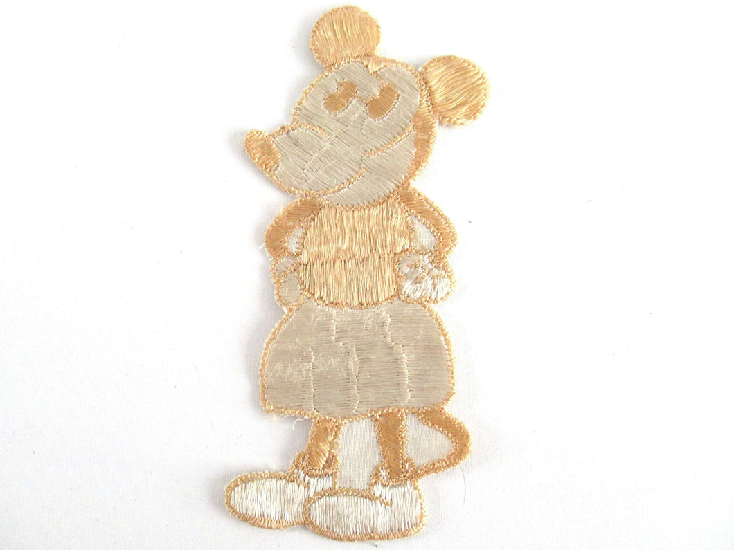 UpperDutch:Applique,Authentic Antique Collectible 1930's Mickey Mouse Applique, Vintage patch, sewing supply.