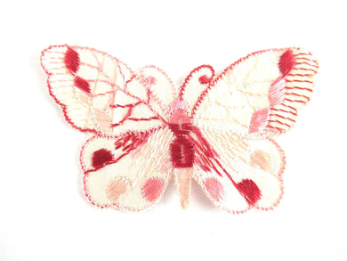 UpperDutch:Applique,Authentic Antique Pink Butterfly applique 1930s. Vintage patch, sewing supply. Crazy quilt.
