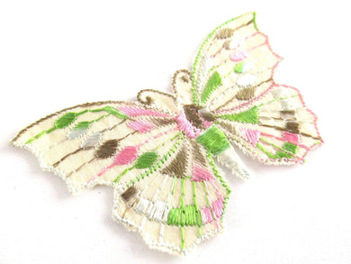 UpperDutch:Applique,Butterfly applique 1930s vintage embroidered applique. Vintage patch, sewing supply. Crazy quilt.