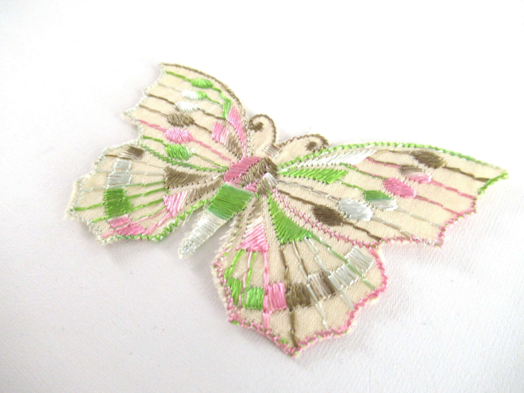 Butterfly applique 1930s vintage embroidered applique. vintage patch