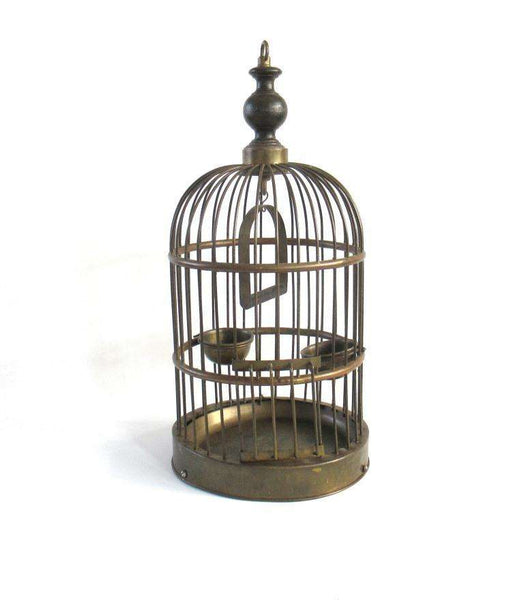 UpperDutch:Birdcage,Antique Brass 18 inch Bird Cage.