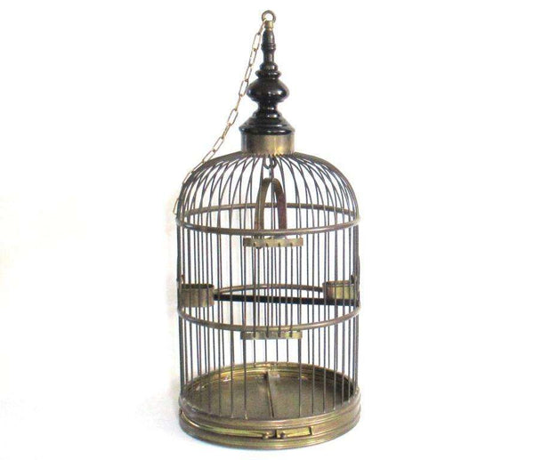 UpperDutch:Birdcage,Antique Brass Birdcage 26 INCH, Solid brass bird cage.
